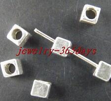300pcs Tibetan Silver Nice Cube Spacer Beads 4x4mm 1542