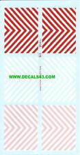 decals decalcomanie divers bande de signalisation zebre rouge blanc & fluo  1/43