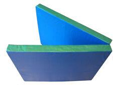 Tapis de gym BLEU-vert 2m x 80cm x 8cm PLIABLE