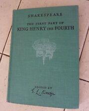 "VINTAGE 1940 SHAKESPEARE ""KING HENRY THE FOURTH"" PART ONE KITTREDGE"