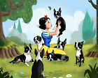 Snow White and the Seven (Dwarfs) Boston Terriers, Boston Terrier gift