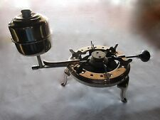ANTIQUE MANNING BOWMAN CO. NICKEL PLATED ALCOHOL GAS CAMP STOVE BURNER