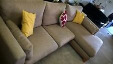 M&S Large Corner sofa Beige Fabric Lovely Delivery Poss