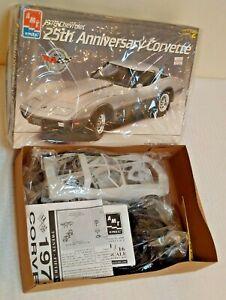 Vintage Model Kit 1/16 Complete AMT 25th Anniversary CORVETTE 1978 Chevrolet MIB