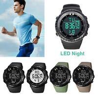 Men Stainless Steel LED Digital Date Unique Quartz Analog Military Wrist Watch