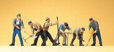 Preiser 10418 H0 Gleisbauarbeiter   6 Figuren NEUHEIT OVP/
