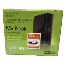 Western Digital 500 GB My Book External Hard Drive New Factory Sealed