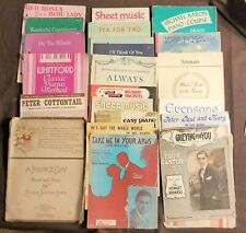 59 Vintage Sheet Music For Piano And Organ & Others. Lombardo, Campbell & Other