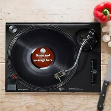 Personalised Tech Vinyl Record Cooking Glass Chopping Board Home Gift ST781