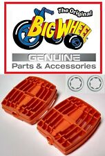 """Replacement Orange Pedals for The Original Big Wheel 16"""" Trike with Washers"""