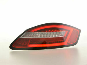PORSCHE BOXSTER 987 RED & CLEAR LED LIGHTBAR TAIL LIGHTS 07/2004-2009