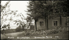 "EARLY 1900s POSTCARD FILM NEGATIVE, ""SCENE GREENSLOPE, GREENVILLE ME. #712"""