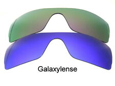 Galaxy Replacement Lenses for Oakley Batwolf Purple&Blue Polarized 2 PAIRS