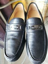 Bally Candino Black Leather Men Shoes Made In Switzerland Size 9