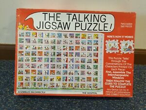 The Talking Jigsaw Puzzle HOSPITAL 1993 Don Scott 2-Sided 560 Pcs RARE COMPLETE