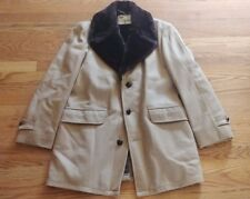 "Vtg Lakeland ""Brocks Town"" Brown Wool Coat Jacket W/ Faux Fur Women's Size 40"