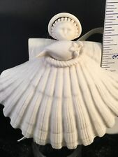 "Margaret Furlong 1984 Sea Shell Peace Dove Partridge Angel 4"" Christmas Ornament"