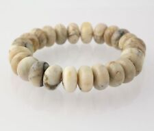NEW Beaded Howlite Bracelet - Stretch Women's 7""