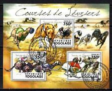 Chiens Togo (40) série complète de 3 timbres oblitérés