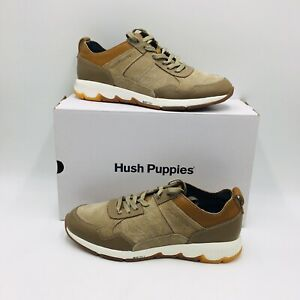 Hush Puppies Men's TS Field Oxford Sneaker Size 9M Taupe Nubuck, MSRP $110
