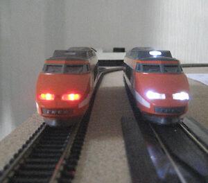 éclairage inversé blanc & rouge DIGITAL pour TGV SUD EST LIMA  NEUF
