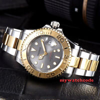 41mm Parnis gray dial Sapphire Ceramic 21 jewels miyota automatic mens watch 937