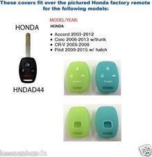 Silicone Rubber Honda Remote Cover - 3 Button Key Plus Panic Glow