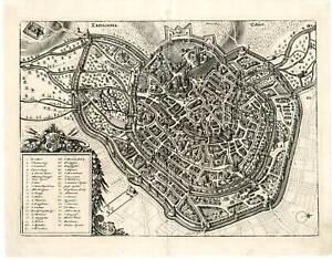 Erfurt, ERPHORDIA, Erdfart - Kupferstich Merian 1633