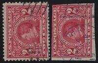 US Stamps - Scott # 370 & 371 - William Seward Perf & Imperf - Used      (L-735)