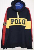 Polo Ralph Lauren Big Tall Mens 3XB Blue Yellow POLO Hoodie Sweat Jacket NWT 3XB