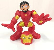 Marvel Super Hero Squad IRON MAN Red / Yellow Armor w/ Removable Helmet #008