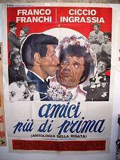 manifesto doppio 140 x 200 AMICI PIU' DI PRIMA - F. FRANCHI e C. INGRASSIA 1977