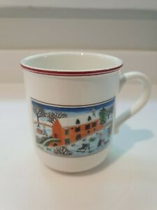 VILLEROY AND BOCH CHRISTMAS NAIF MUG EXCELLENT CONDITION