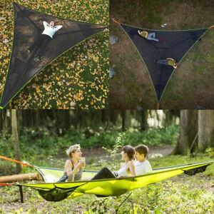 NEW Multi Person Hammock Triangle Aerial Mat Hammock Tree House Air Sky Tent ✔✔✔