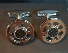 Alfred Dunhill Carbon Spinning Wheel Cufflinks