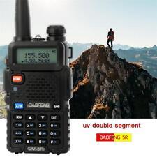 Baofeng UV-5R VHF/UHF Dual-Band DCS DTMF Walkie Talkies Two-way Radio UK Adapter