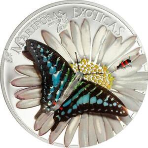 Equatorial Guinea 2015 Butterflies 3D Mariposas Exoticas 25g Silver Proof Coin