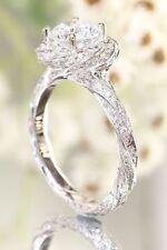 Wedding Ring 14K White Gold Finish 2. Ct Round Diamond Engagement Women's