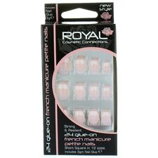 Royal 24 French Manicure Petite Glue On False Nails