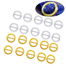 20pcs Party Tee Shirt Clips Simple Elegant Round Scarf T Shirt Clasp Wrap Holder