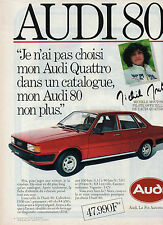 Publicité Advertising 1982  AUDI 80 CL  Michele Mouton