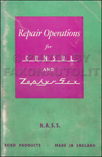 Ford Consul Zephyr Repair Operations Book 1951 1952 1953 1954 Illustrated