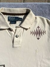 $250 NEW LEATHER TASSLE NATIVE AMERICAN Ralph Lauren Polo Men Custom Fit L Shirt