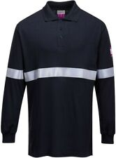 Portwest FR03 flammhemmendes, antistatisches Langarm Polo-Shirt Gr. L