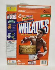 Muhammad Ali The Greatest Wheaties Cereal - 12 oz Empty Box 1999