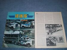 "1980 Mack Superliner Vintage 1/16th Scale Mini-Rig Article ""18 in 16ths"""