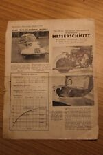 Messerschmitt Cabin Scooter KR175 Original Factory Produced Road Test 1954