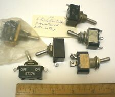 6 Mil.Sealed Toggle Switches, SPDT & DPDT, Assorted, JBT, Made in USA, Lot 3