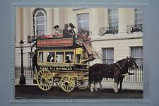 R&L Modern Postcard: Garden Seat Horse Bus, LGOC, Shire Working Horses