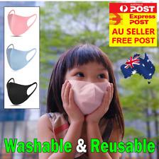 Kids Face Mask Unisex Mouth Masks Protective Reusable Washable, AU STOCK